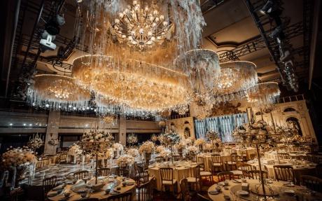 金色大厅 3F [ 最大40桌 · 高7.0m · 无柱 · 长方形 · 低消2099 ]
