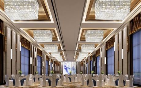 5F嘉祥厅 [ 最大25桌 · 高2.5m · 无柱 · 长方形 · 低消1599 ]