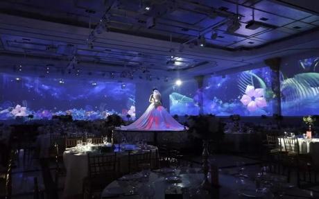 3D宴会厅  1F [ 最大58桌 · 高7.0m · 无柱 · 长方形 · 低消1299 ]