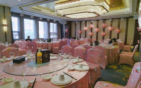 丹霞厅  2F [ 最大20桌 · 高3.6m · 无柱 · 长方形 · 低消1688 ]
