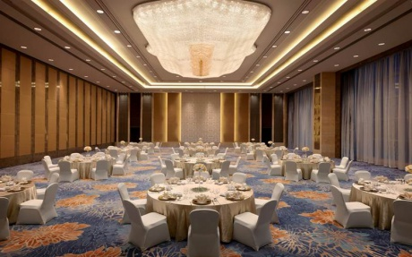 香格里拉宴会厅C [ 最大24桌 · 高7.5m · 无柱 · 长方形 · 低消4288 ]
