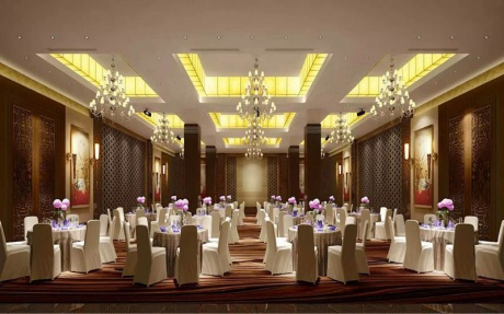 龙泉厅  2F [ 最大12桌 · 高3.5m · 无柱 · 长方形 · 低消1999 ]